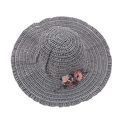 Bébé fille chapeau chapeau de soleil été plage chapeaux filles Big Hat 3-8 ans, Noir