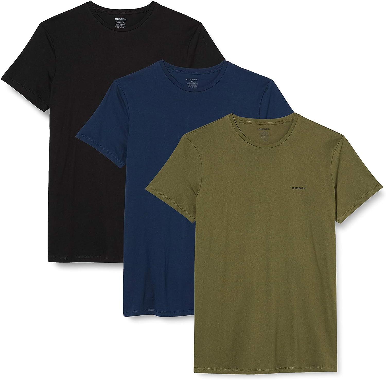 Diesel Men's Umtee-Jake Threepack Crew Neck T-Shirts