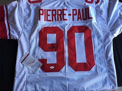 best service 0edef 8ede5 Amazon.com : Jason Pierre-Paul Autographed and Signed Giants ...