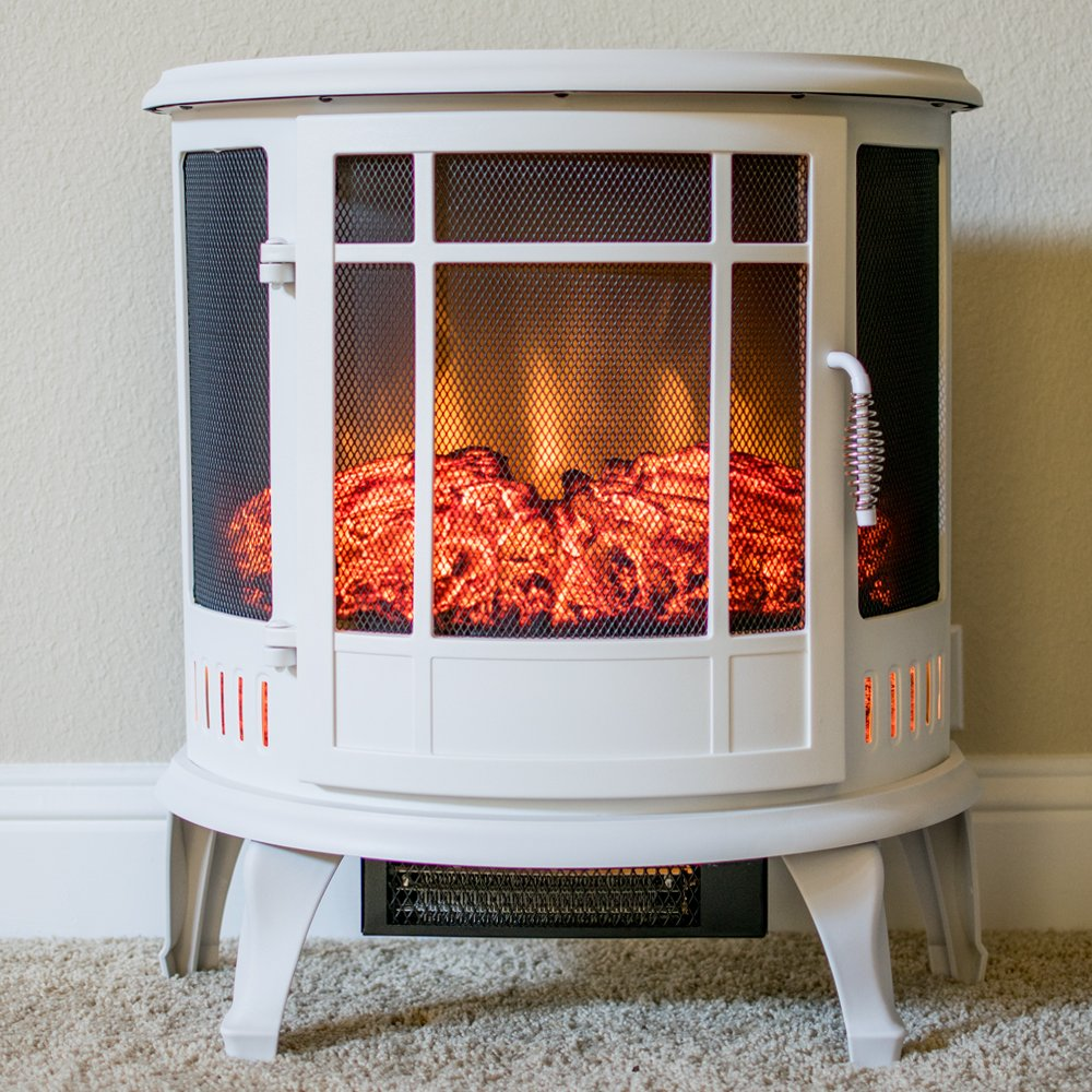 amazon com regal curved portable free standing electric fireplace