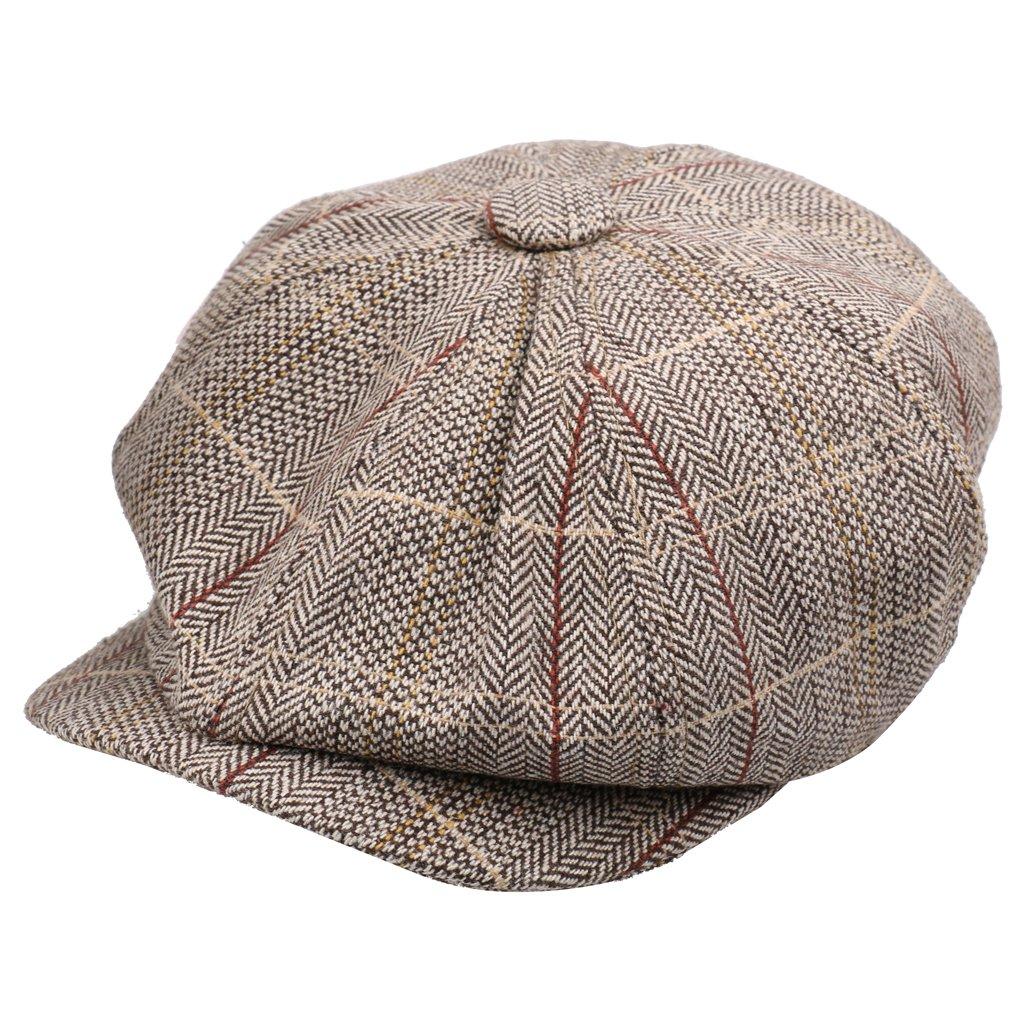 07571099 Generic Newsboy Cap Hat Flat Baker Boy Newsboy Gatsby Beret Cap for Men  Ladies - khaki: Amazon.in: Clothing & Accessories