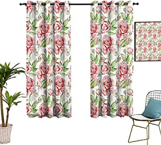 Amazon.com: MartinDecor Floral Rod Pocket Blackout ...