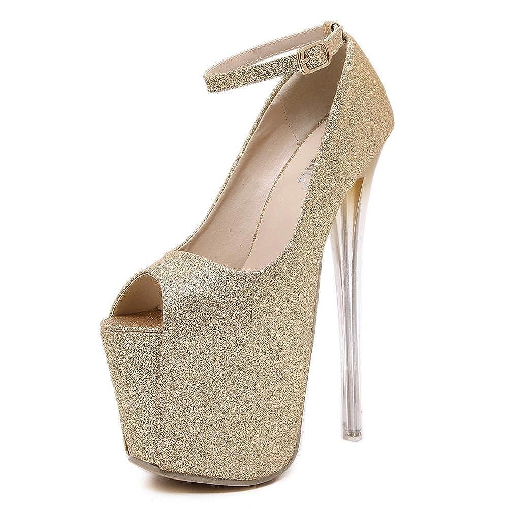 L@YC L@YC Femmes Talons Hauts Cristal Transparent 10280 19 19 Cm Haute-Talon Imperméable Chaussures De Danse De Table yellow fc34b1b - boatplans.space
