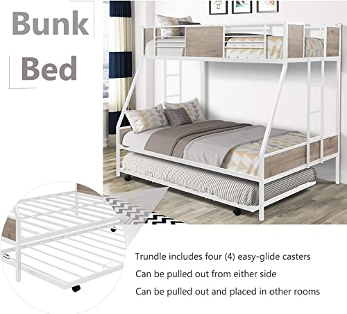 Metal Bunk Bed Twin Over Full Bunk Bed