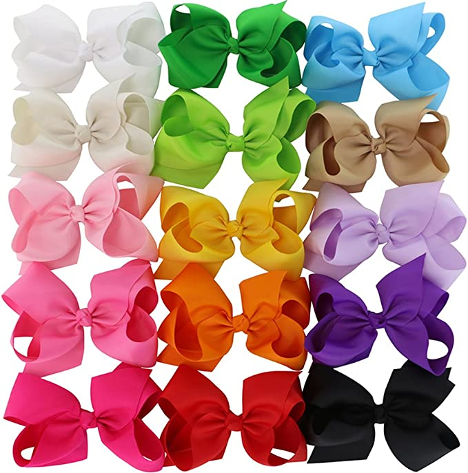 3in 4.5in 6in Hair Bows For Girls Grosgrain Ribbon Large Butique Bow Clip Teens Toddlers Kids Children