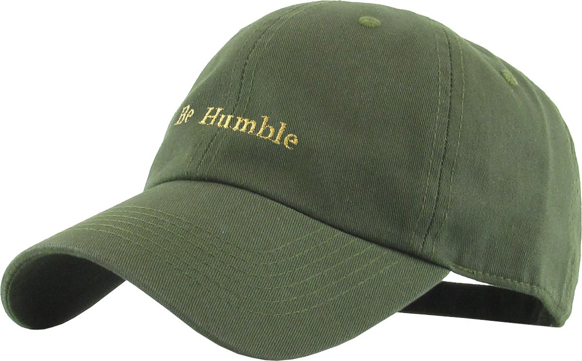 11f8f747 Amazon.com: KBSV-074 OLV Be Humble Dad Hat Baseball Cap Polo Style  Adjustable: Clothing
