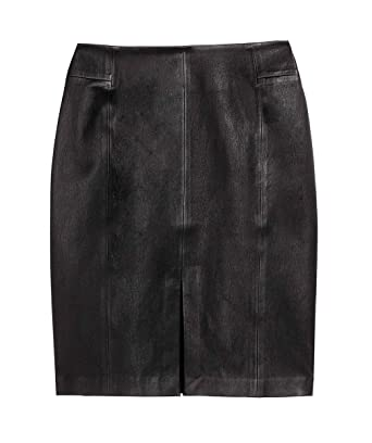 2321f44303 Genuine Leather Custom Made Sexy Lady Knee Length Pencil Skirt Office Lady  Club Skirt #S13: Amazon.co.uk: Clothing