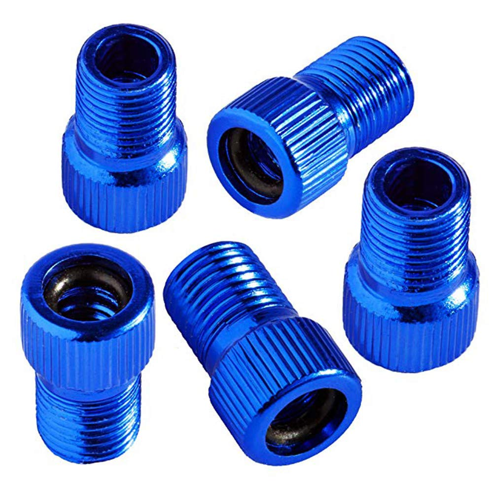 Chartsea 5PC Anodized Machined Aluminum Alloy Bicycle Bike Tire Valve Caps Dust Covers French Style Presta Valve Cap (Blue)