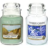 'Yankee Candle–Set di 2barattoli Classic Signature Large–Coastal Living e gelsomino