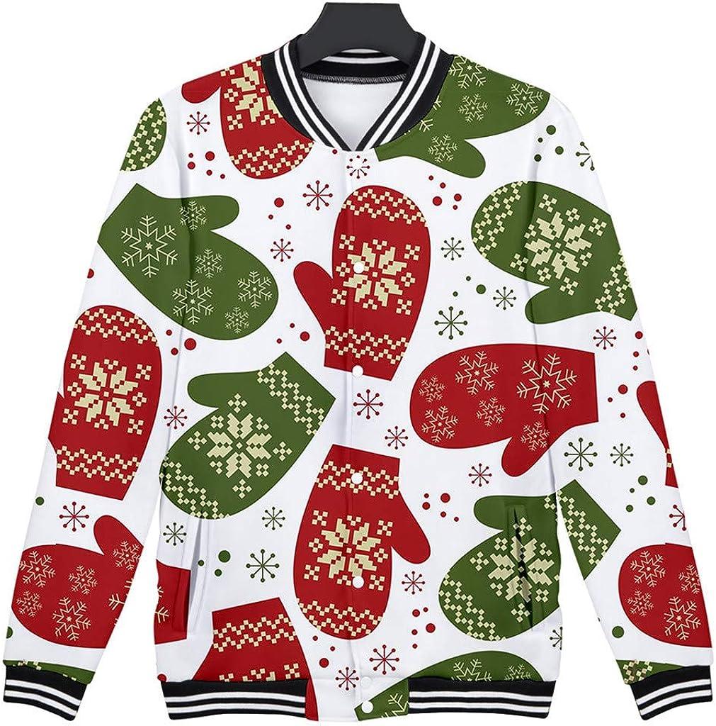 HomeMals Tops for Men 3D Printed Long Sleeve Baseball Unisex Pullover Shirt Hooded Sweater