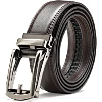 "Genuine Leather Belt For Men – Ratchet Dress Belt With Automatic Buckle - 1.25"" Wide Adjustable Notch-Free Design"