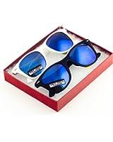MJ Boutique's Classic Retro Classics Matte Mirror Sunglasses - 2 Blue