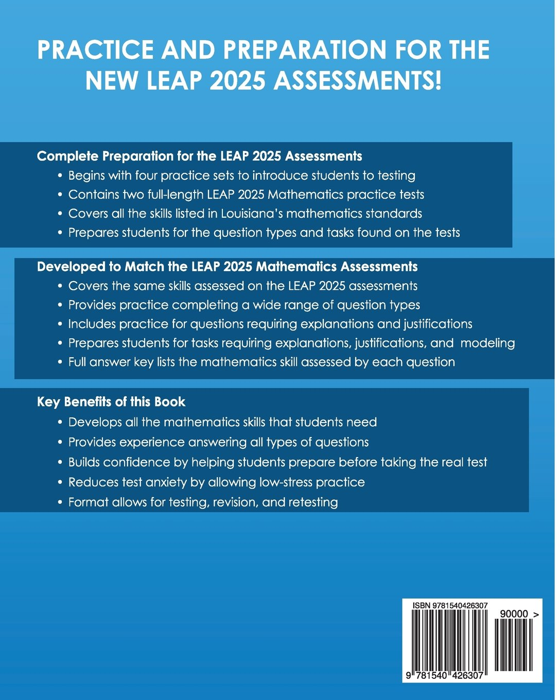 LOUISIANA TEST PREP Practice Test Book LEAP 2025 Mathematics Grade 4 ...