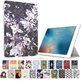 MIxUP iPad mini4 スマート カバー バック ケース 手帳型 スタンド 機能 アイパッド ミニ4 おしゃれ 花 柄 すみれ 花柄 MXP-M4-ssPPT-violet
