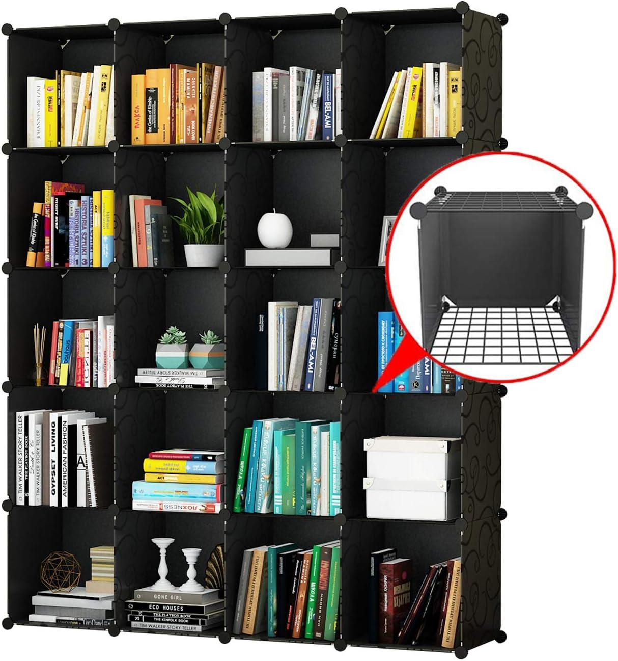 "KOUSI Portable Storage Cubes-14"" x14""(Load-Bearing Metal Panel) Modular Bookshelf Units,Clothes Storage Shelves,Room Organizer"