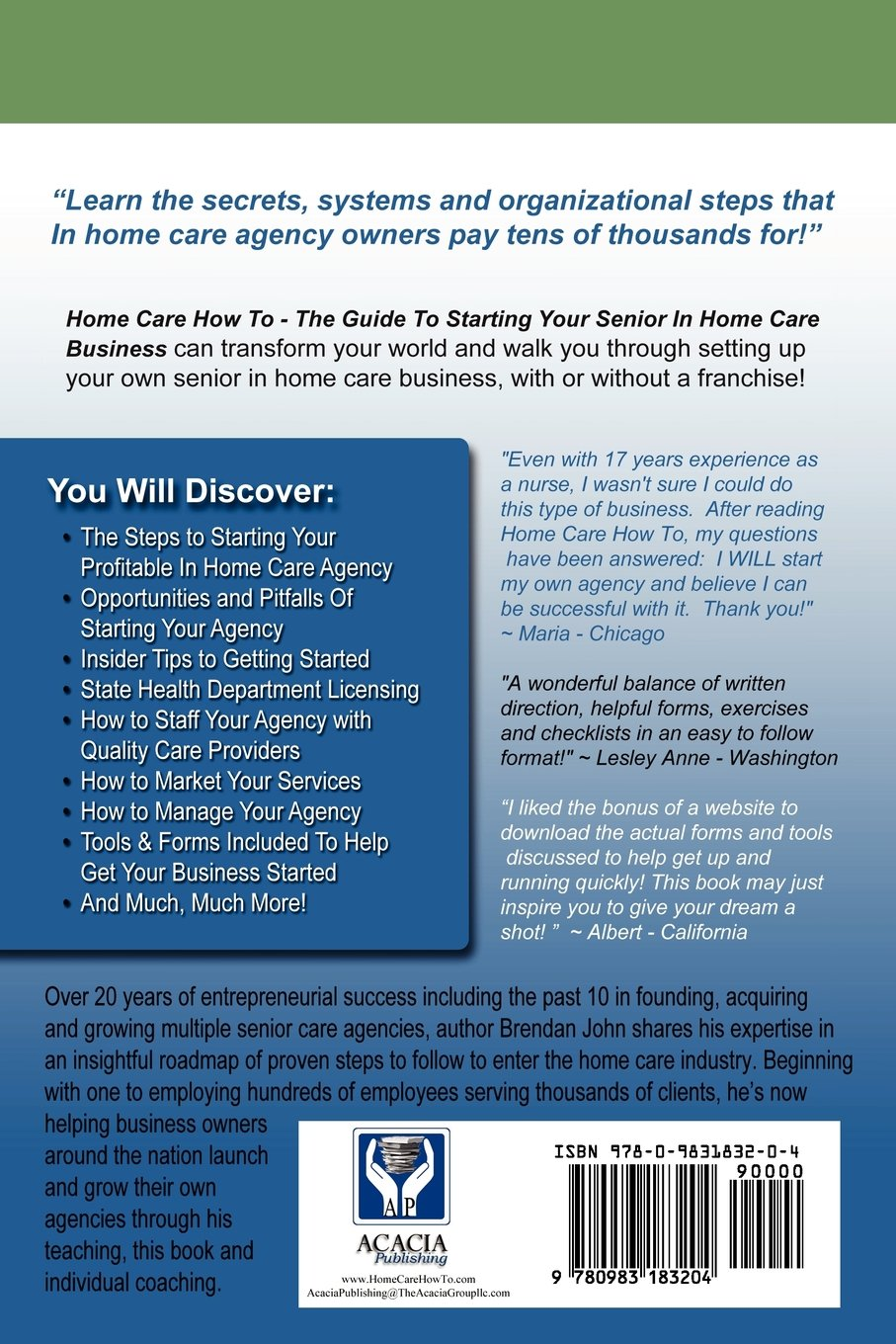 Watch How to Start a Home Health Care Business video