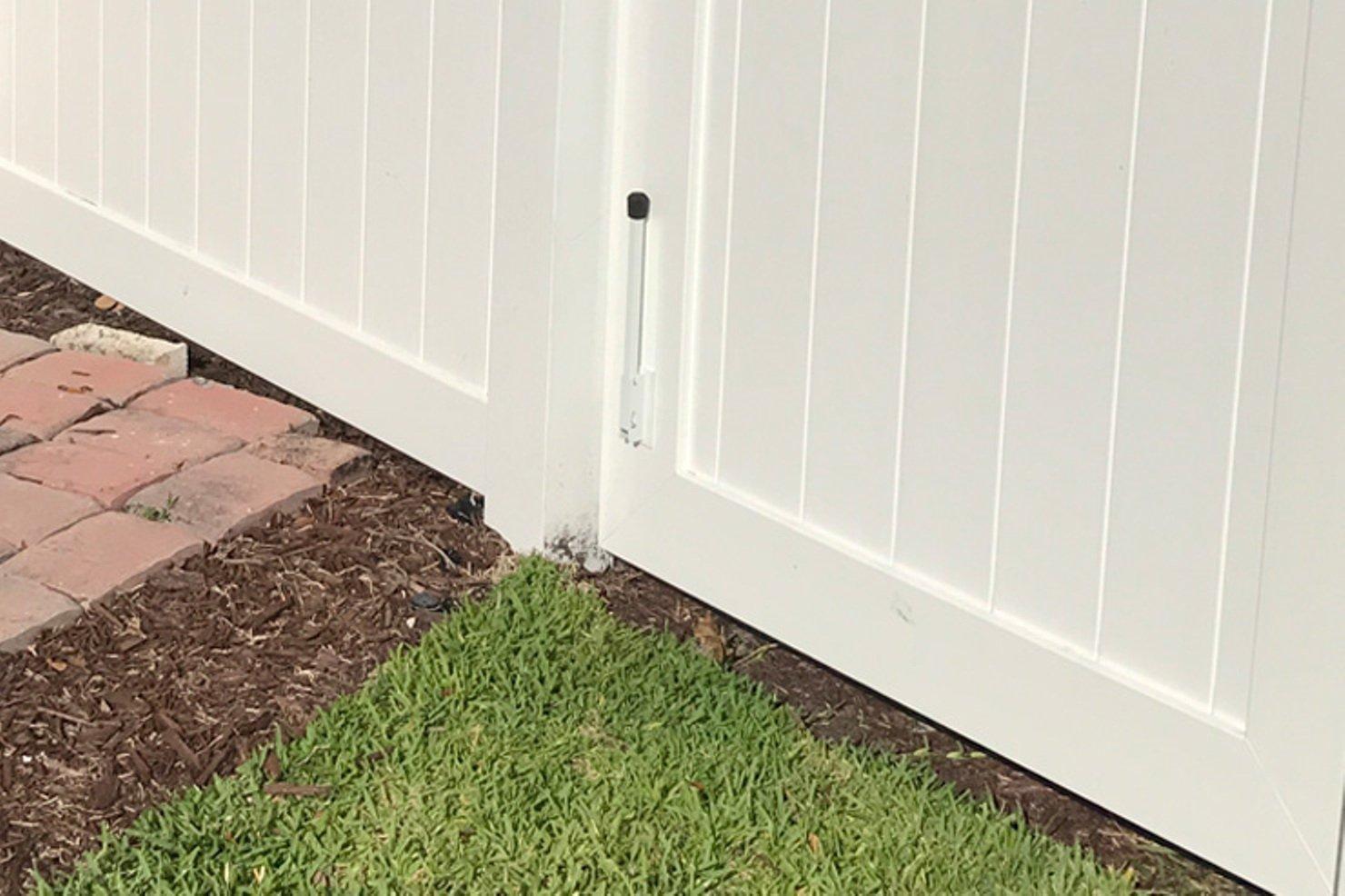 Amazon.com: Tope de puerta de longitud extendida con tirador ...