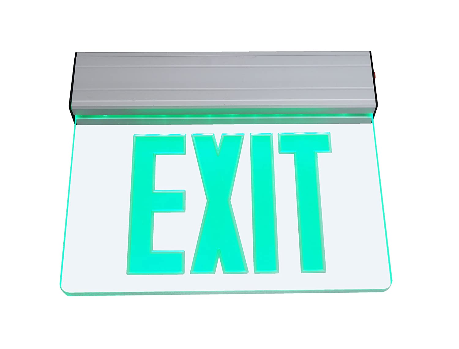 nicor lighting edge lit led emergency exit sign, clear with green Dvd Player Wiring Diagram nicor lighting edge lit led emergency exit sign, clear with green lettering (exl2 10 unv al cl g 1) amazon com