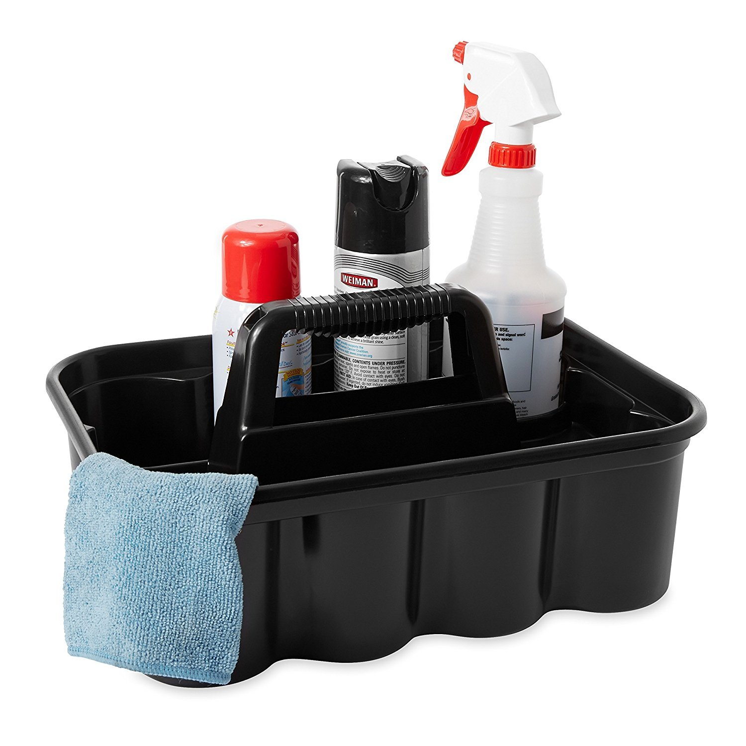 Deluxe Carry Cleaning Caddy, Black (FG315488BLA) by RubbermaidComercialProducts (Image #4)