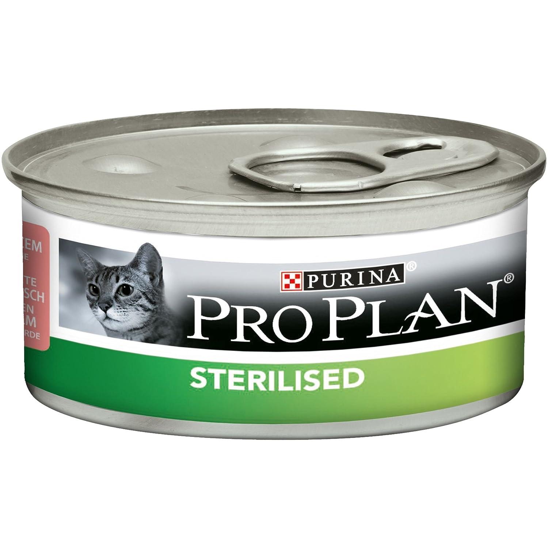Nestle ProPlan Sterlised Terrine au Saumon/Thon/Boite Repas pour Chat Adulte 85 g - Pack DE 24 12171995
