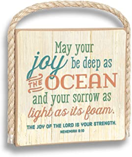 product image for Imagine Design May Your Joy be as deep as The Ocean Gone Coastal Plaque