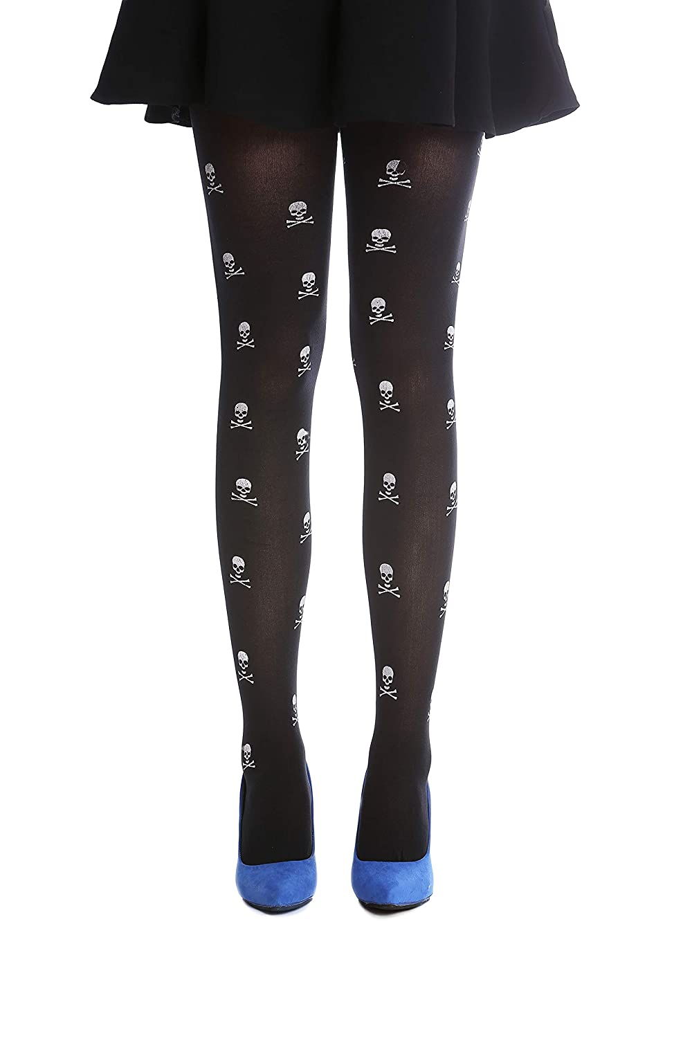 463f5dab29c5c DRESS ME UP - W-018 Lady's Halloween Pantyhose Tights black white skull and  bones design Punk Emo Goth Witch Pirate: Amazon.co.uk: Toys & Games