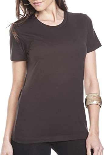Next Level Apparel Ladies Boyfriend T-Shirt, Dark Chocolate, X-Large