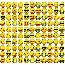 Fyess 70Pcs Smiley Face Emoticon Push Pins, Decorative Push Pins,Creative Thumbtacks Drawing Pin For Home or Office Whiteboard, Corkboard, Photo Wall Holding Paper or Decoration