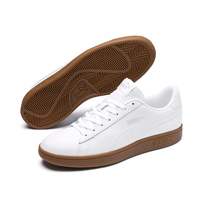 Puma Smash V2 L Sneakers Erwachsene Damen Herren Unisex komplett Weiß/Gum