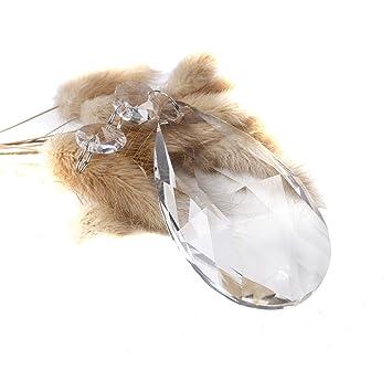 BIHRTC - Paquete de 12 colgantes de cristal para lámparas de ...