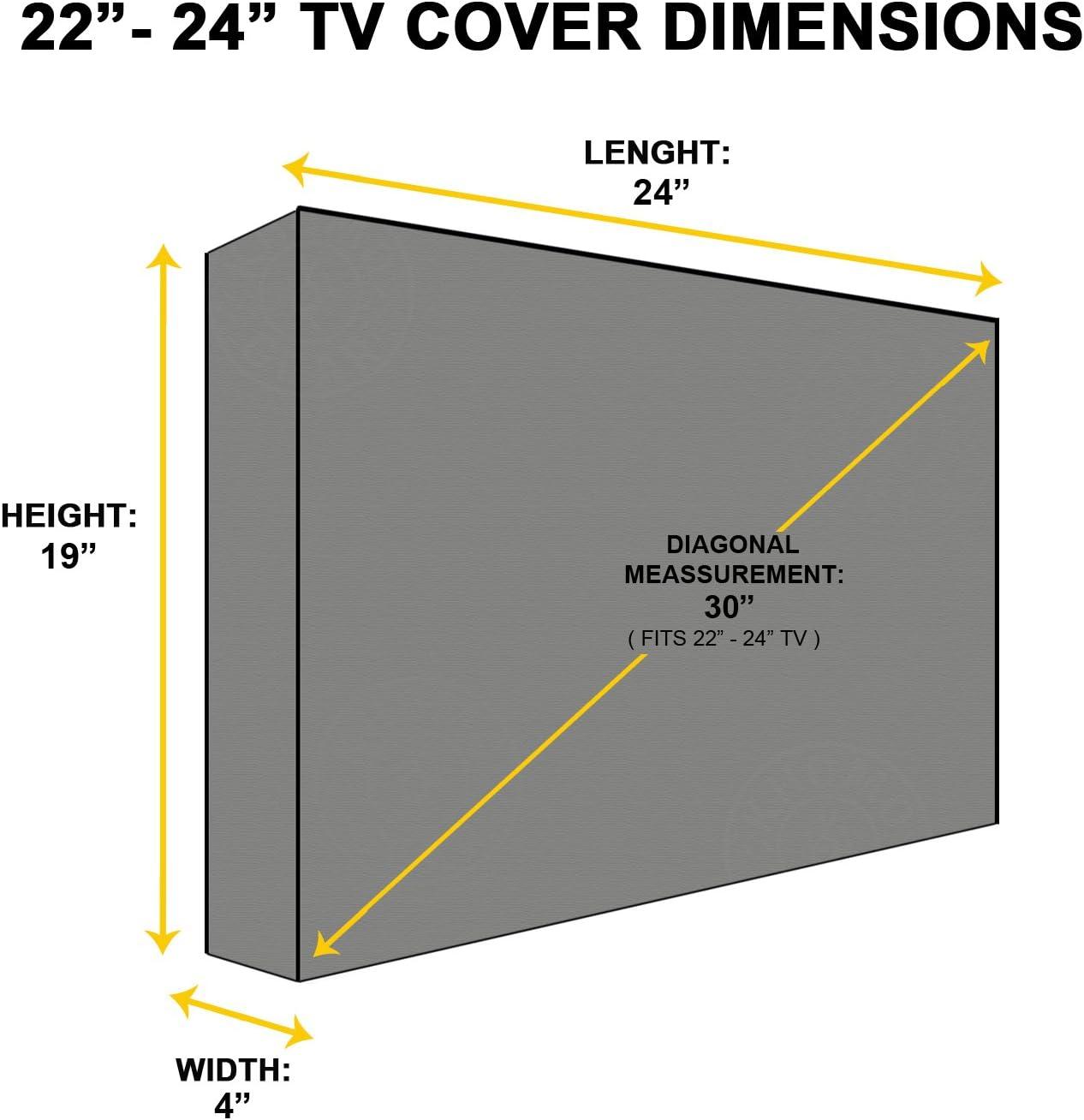 Protector TV Exterior Universal Funda para Televisor de 20-24 LCD Beige 24 Resistente al Agua /ó PLASMA LED Protector de Pantalla Compatible con Soportes de Mesa y Pared