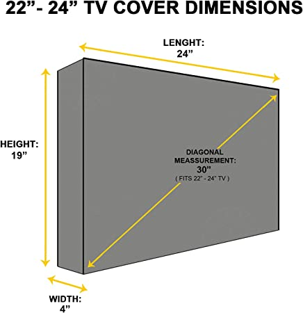 Khomo Gear - Protector de Pantalla para TV de Exterior, Color Gris: Amazon.es: Electrónica