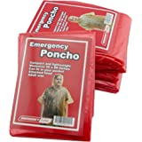 Emergency Zone Emergency Poncho, Emergency Rain Gear, Weather Protection. Disposable. Bulk Options Available. Green or…