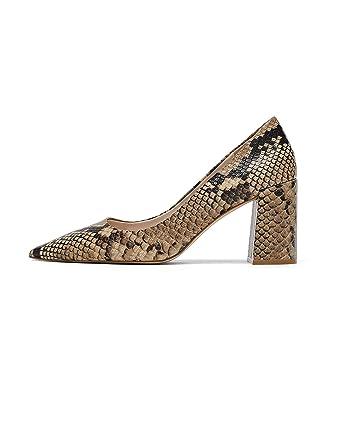 ea21892c707 Amazon.com  Zara Women Snakeskin print leather heeled shoes 6942 301   Clothing