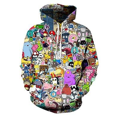 anime hoodies men women 3d sweatshirts with hat hoody unisex anime
