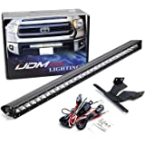 iJDMTOY Lower Grille Mount 30-Inch LED Light Bar Compatible With 2014-up Toyota Tundra, Includes (1) 150W High Power CREE LED