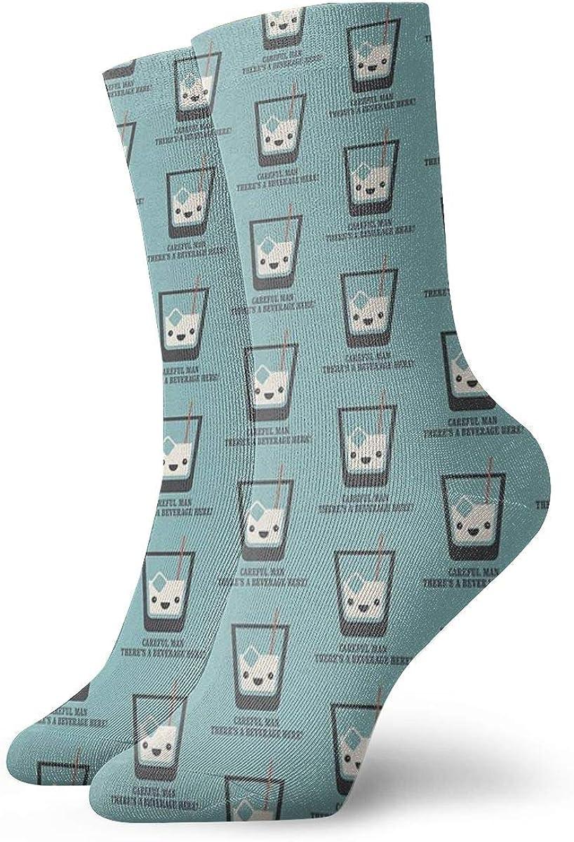 Wilson-Martin The Big Lebowski - White Russian - Careful Man, There'S A Beverage Here! Socks Casual Socks Sports Socks Fun Work Socks for Men/Women 11.8Inch