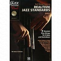 Realtime Jazz Standards - arrangiert für Kontrabass - mit CD [Noten/Sheetmusic] Komponist : Stabenow Thomas aus der Reihe: Jazz session play along 1