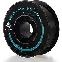 3D Solutech Real Black 3D Printer Premium PLA Filament 1.75MM Filament, Dimensional Accuracy +/- 0.03 mm, 2.2 LBS (1.0KG)