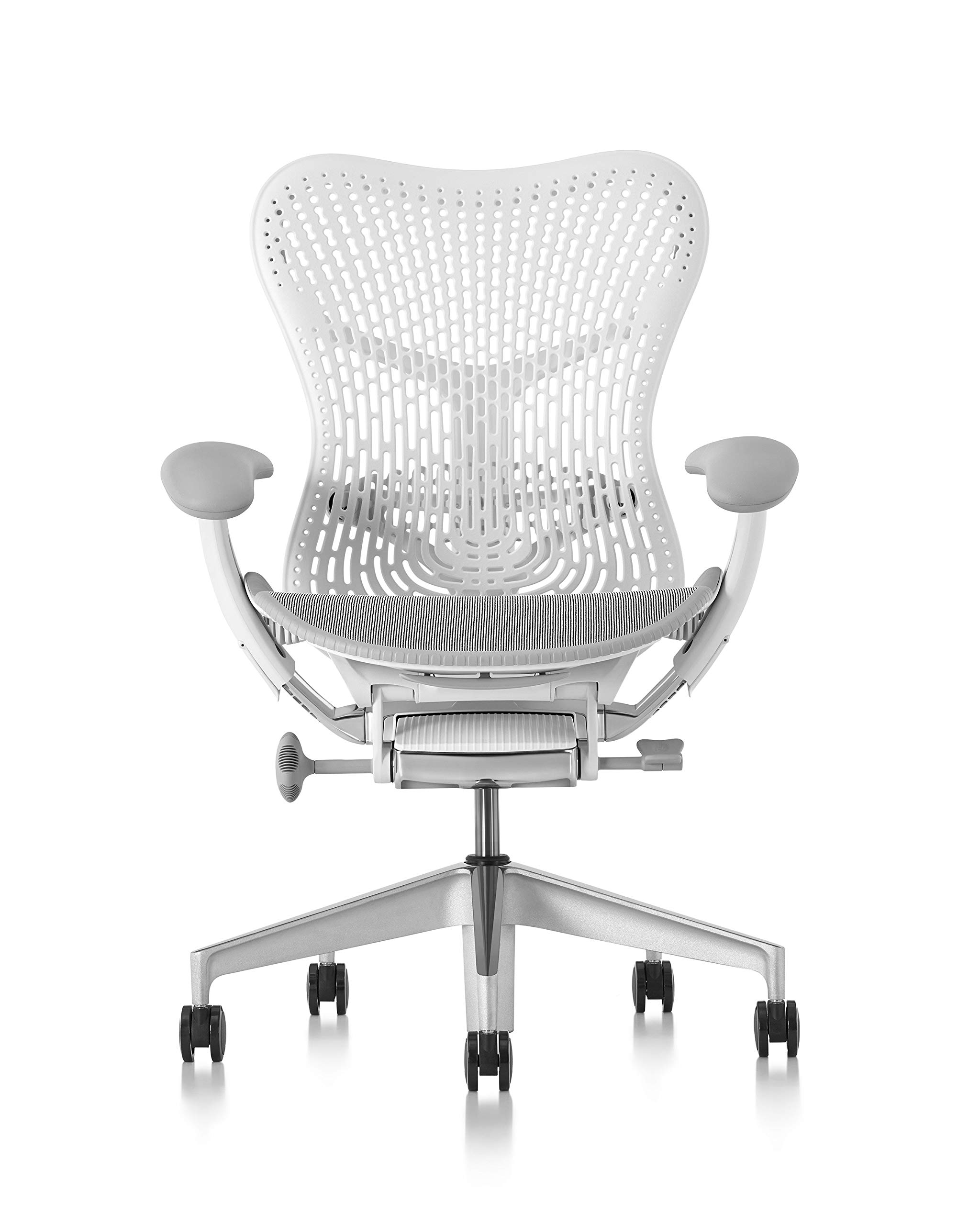 Herman Miller  Mirra 2 Chair, One Size, Fog with Studio White Frame