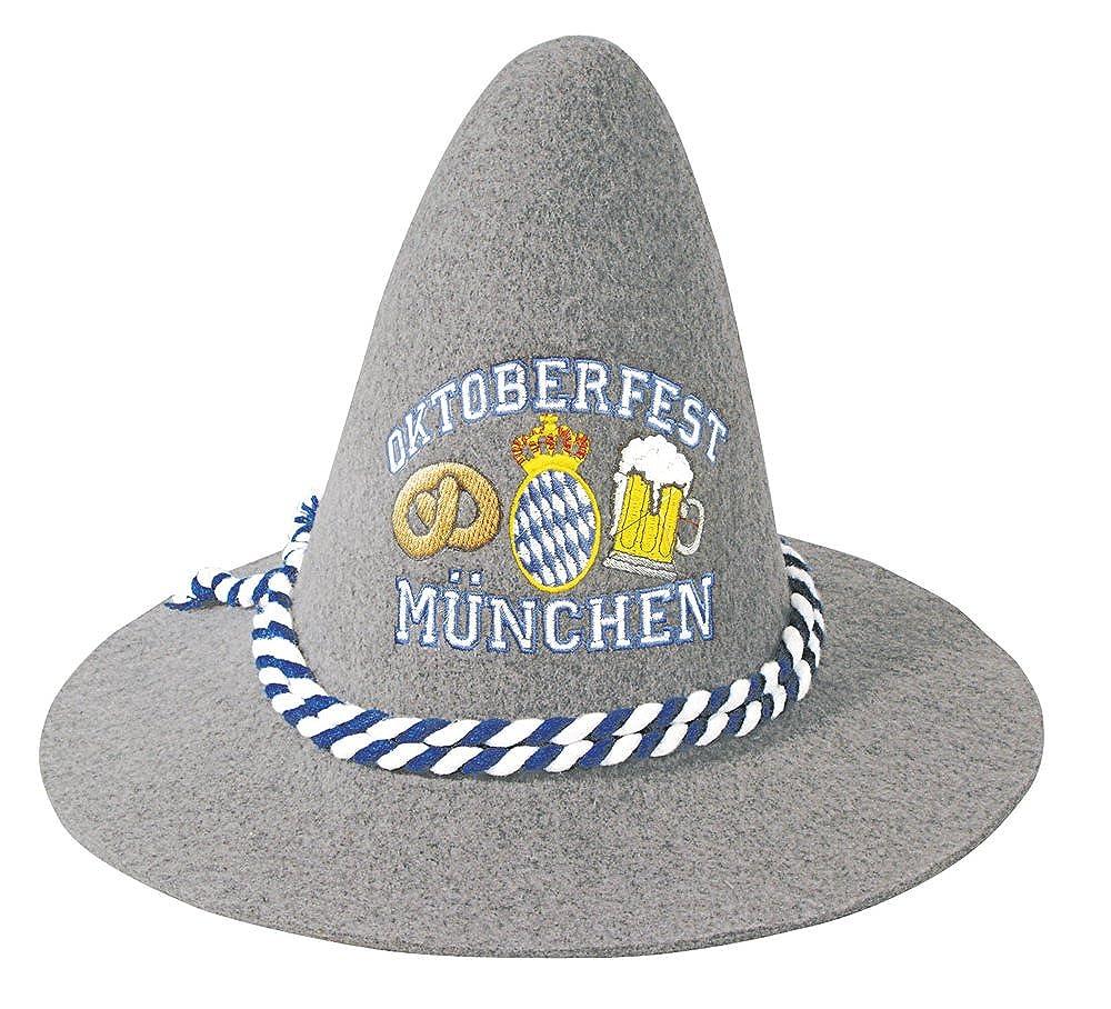 Fan-O-Menal Gaudi-Hut Sepplhut mit Einstickung - Oktoberfest München - 51499