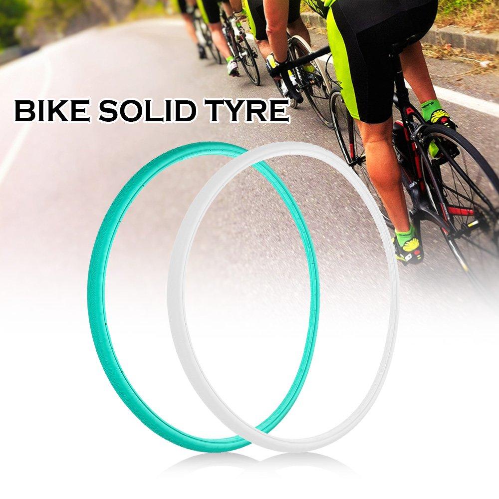 Lixada 70023 Cロードバイクサイクリング自転車ソリッドタイヤ固定ギアバイクサイクリングタイヤ固定ギアソリッドチューブFree Inflationゴムタイヤ B07B9P9NYW