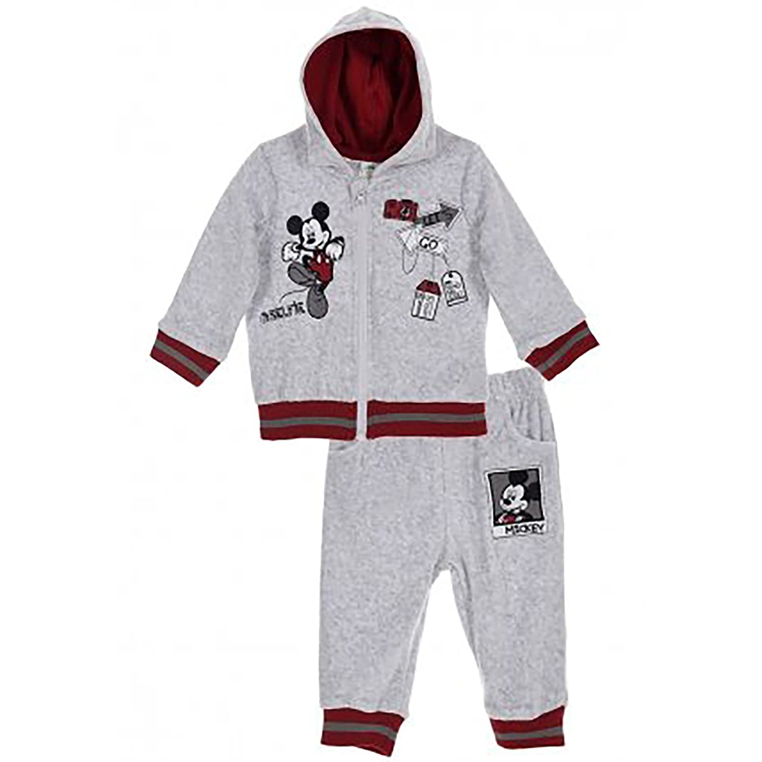 Disney Mickey Mouse Baby Boys Clothing Outfit Tracksuit Set Joggers Hoodie Warm Velvet 0-24 Months - New 2017/18