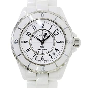 6208531366de シャネル CHANEL J12 H0970 メンズ 腕時計 ホワイト セラミック 白セラ デイト 自動巻き オートマ ウォッチ 【