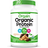 Orgain Organic Plant Based Protein Powder, Chocolate Peanut Butter - Vegan, Low Net Carbs, Non Dairy, Gluten Free, Lactose Fr