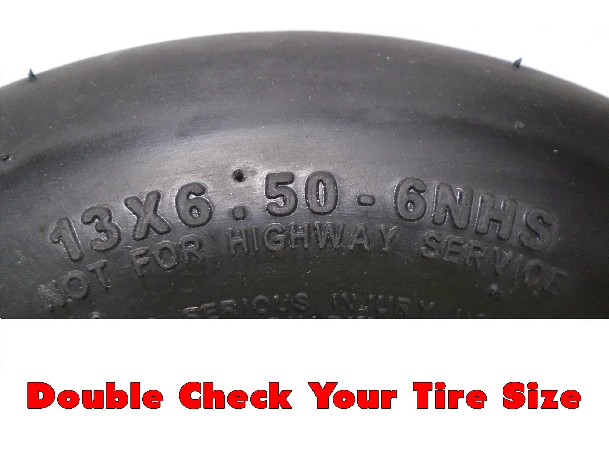 John Deere Flat Free Tire Assemblies 13x6.50-6 Yellow TCA19309 TCA16946 by NoAir (Image #2)