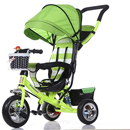 QXMEI Triciclos para Niños Coches para Niños Bicicletas para Bebés 1-3-5 Años Bicicletas para Niños Carritos para Bebés,Green: Amazon.es: Hogar