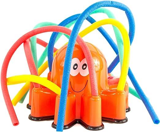 Pulpo, multicolor, aspersor de agua, juguete de agua, aspersor de jardín, aspersor para césped, manguera de agua, juguete infantil: Amazon.es: Jardín
