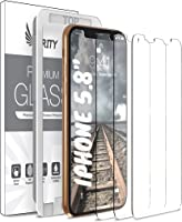 Purity Screen Protector for Apple iPhone 11 Pro/iPhone Xs/iPhone X - 3 Pack (w/Installation Frame) Tempered Glass Screen...