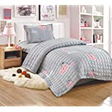 Kids Compressed 3Piece Comforter Set, Single Size, Gray